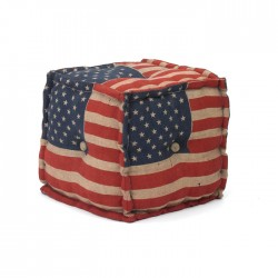 Stars & Stripes Pouf-Square