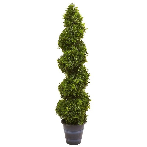 Boxwood Spiral Topiary with Planter (Indoor/Outdoor)