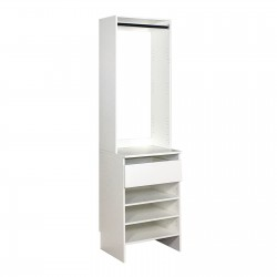 Upper High Hang & Base Top 1 Drawer Shelf