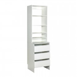 Upper Shelf & Base Top 3 Drawer