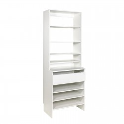 Upper Shelf & Base Top 1 Drawer Shelf