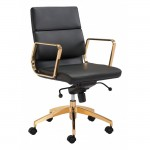 Scientist Low Back Office Chair Blk & Gd