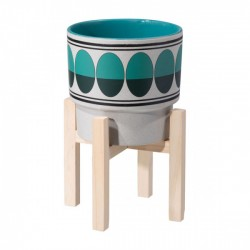 Retro Md Planter Green & Teal